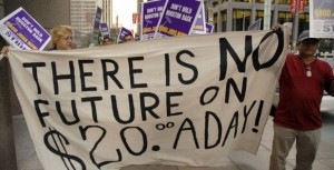 In 2006, Houston Janitors made the minimum wage, $5.15 an hour