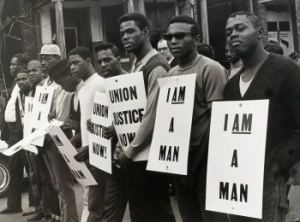 The 1968 Memphis Sanitation Strike MLK stood with the day before he was assassinated.